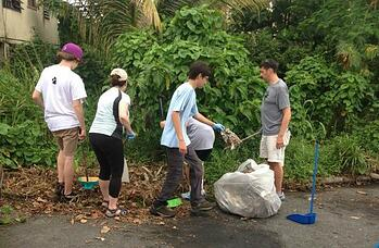 Whitby Students Performing Community Service