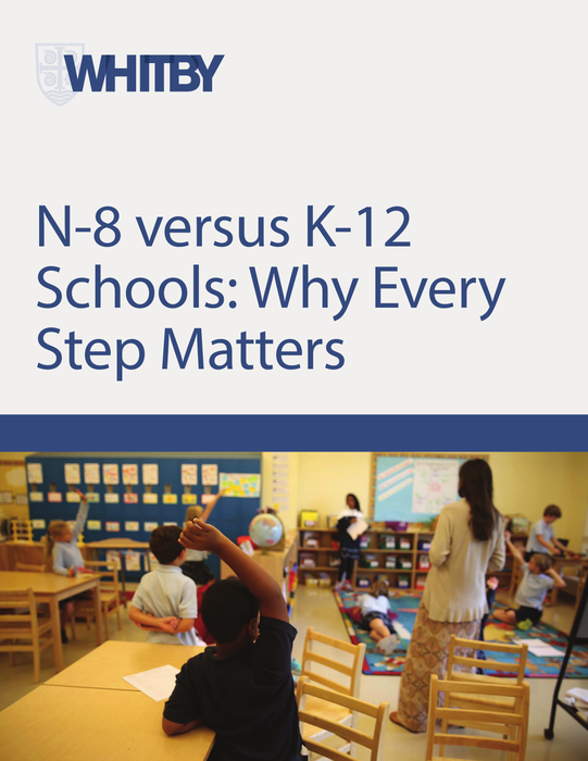 Download Whitby School's ebook N-8 Versus K-12 Schools: Which Strategy Will Get Your Child the Best Possible Outcome?